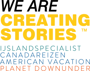 Logo Creating Stories - WE ARE - IJsland Canada American Planet V2